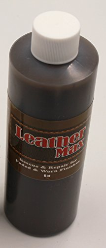 8 Ounce Bottle of Furniture Leather Max Leather Restorer and Refinish Made to Repair Worn and Faded Finishes (Leather Repair) (Vinyl Repair) (Dark Brown)
