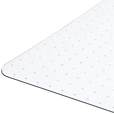 """Heavy Duty Carpet Chair Mat Non Breakable Polycarbonate Size 36"""" X 48"""" 1/8"""" With Lip Shipped Flat"""