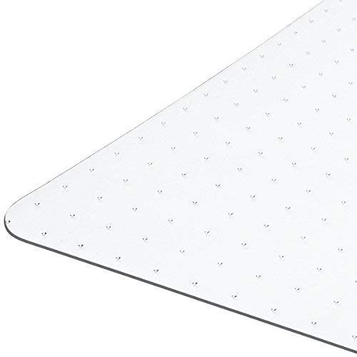 Heavy Duty Carpet Chair Mat Non Breakable Polycarbonate Thick and Sturdy Highly Transparent Premium Quality for Low and Medium Pile Carpets 36 X 48 X1/8 Rectangular Shipped Flat