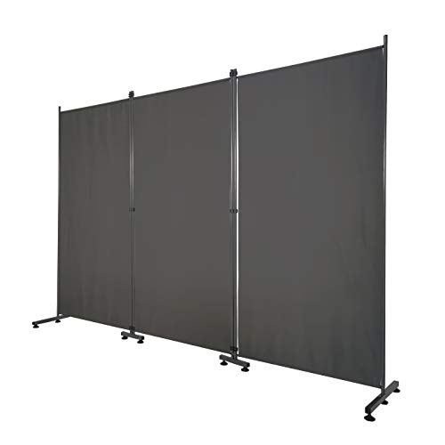 Room Divider – Folding Partition Privacy Screen for School, Church, Office, Classroom, Dorm Room,...