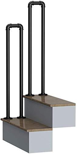 MYPNB Handläufe Treppengeländer Geländer Treppengeländer Komplett-Set.Rustic Schwarz, Industrie Wind Schmiedeeisen Treppengeländer, Haus Innen Loft Alt Rutschfester Griff Kindergarten, 1pcs