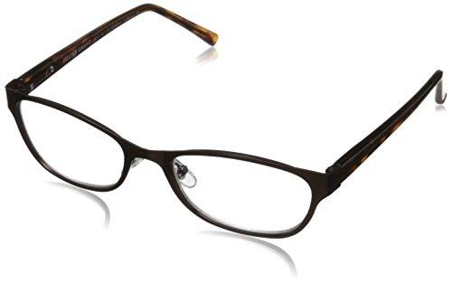 Foster Grant Women's Charlsie Multifocus Cat-Eye Reading Glasses, Tortoise/Transparent, 52 mm + 1