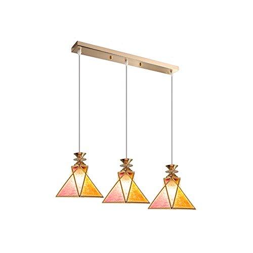 Nordic LED Triple Tête Lustre Moderne Minimaliste Fer Restaurant Bar Magasin de Vêtements Lustres Creative Salon Chambre Corridor Plafonniers (Design : A)
