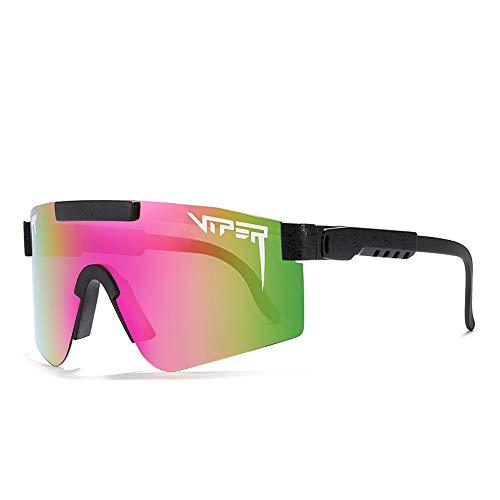 Tletiy Gafas De Sol Pit-Viper, Doble Ancho Espejado Polarizado TR90 Frame para Hombres Y Mujeres Ciclismo Eyewear UV400 Polarizado Polarizado Ligero Conducción Caminata Golf Pesca Deportes Eyewear