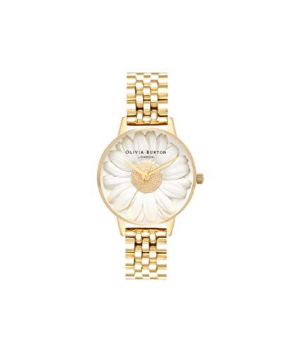 Olivia Burton Damen Analog Japanisch Quarz Uhr mit Edelstahl Armband OB16FS100