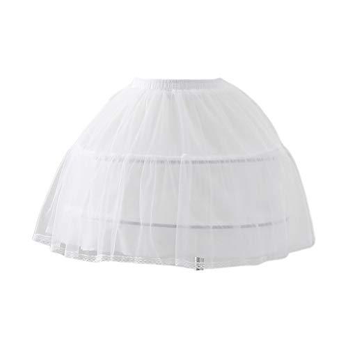 JOYKK Vrouwen-Bruids-Wit elastische taille-onderrok Korte sluiting rok