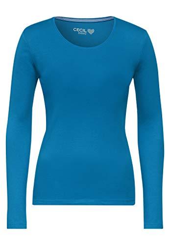 Cecil Damen Style Pia T-Shirt, Bright Blue, M