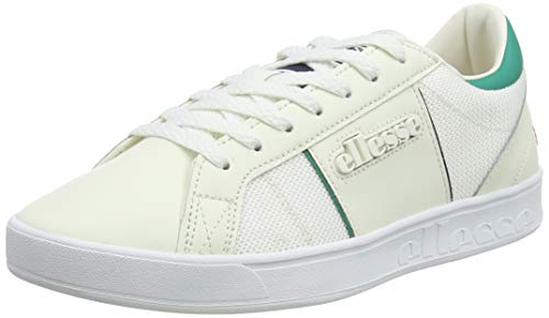 ellesse Herren Ls-80 Sneaker, Mehrfarbig (Off White/Green Off Wht/Grn), 42 EU