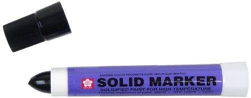 Sakura Solidified Paint Solid Marker, Black (Box of 12)