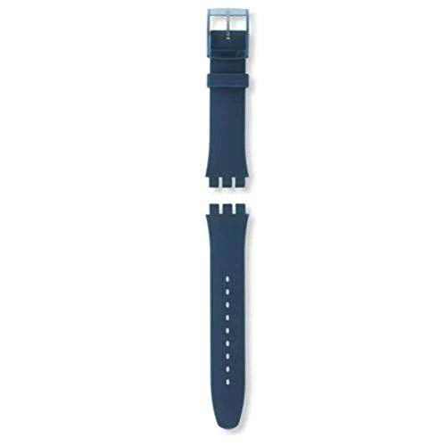 Authentic Swatch Watch Strap Soft Silicone Blue 19.5mm for Blue Rebel