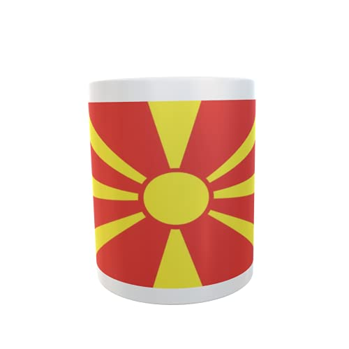 U24 Tasse Kaffeebecher Mug Cup Flagge Mazedonien
