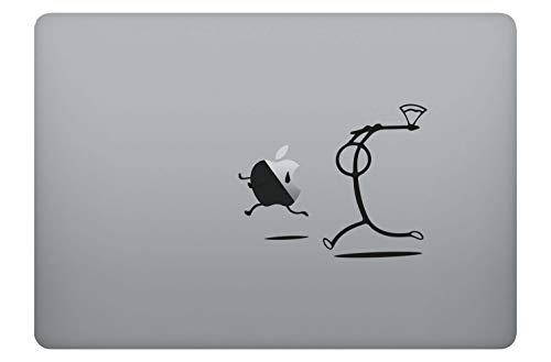 Apfelkiller Apple Killer Aufkleber Laptop Sticker Folie geeignet für alle neumodischen & Alten Apple MacBook Modelle (11 Zoll, 12 Zoll, 13 Zoll, 15 Zoll, 16 Zoll, 17 Zoll)