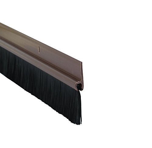 STORMGUARD 02SR0200838B 838mm Bottom of The Door Brush Strip Draught Excluder-Brown, (2'9')