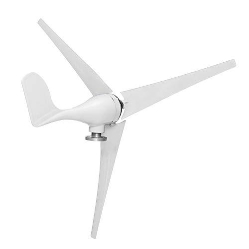 SISHUINIANHUA 6000W Horizontaler Windgenerator 12/40 / 48V 3 / 5Blade Wind Turbinen Generator Windmill Energy-Turbinen Ladung mit Controller,5 Blades,24v