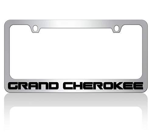 Eurosport Daytona Chrome License Plate Frame- 2018 JEEP Grand Cherokee W/O Black Word