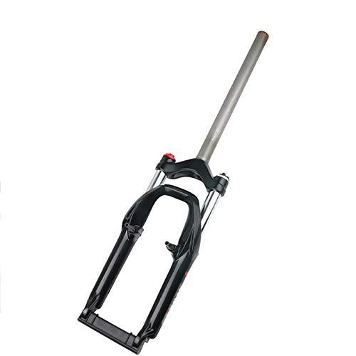 WYJW Horquilla de suspensión de Bicicleta MTB de 20 Pulgadas, aleación de Aluminio Amortiguador de Resorte Horquilla Delantera Horquilla de dirección Recta para Bicicleta Accesorios de