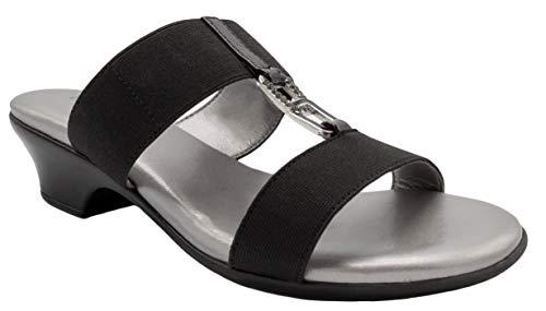 LONDON FOG Womens Eliza Demi-Wedge Dress Sandals Black 8 M US