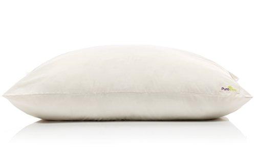 PureTree Organic Shredded Latex Pillow (Queen/Standard) Organic Cotton Cover GOLS GOTS Certified
