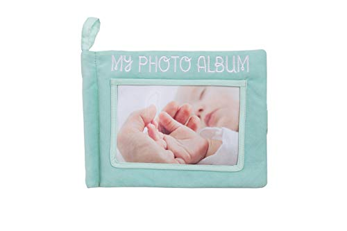 Pearhead Plush Photo Album, Baby Album Toy, Gender Neutral Baby Toy for Baby Girl or Baby Boy