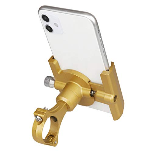 Bike Mount, Bike Phone Mount Motorcycle Baby Carriage Bicycle Stand Cell Phone Holder Cradle 360 Degree Rotate for iPhone X 7 6s Plus 5s 5SE Sony Samsung MP4 MP5 GPS PDA (Gold, 6.3 inches)