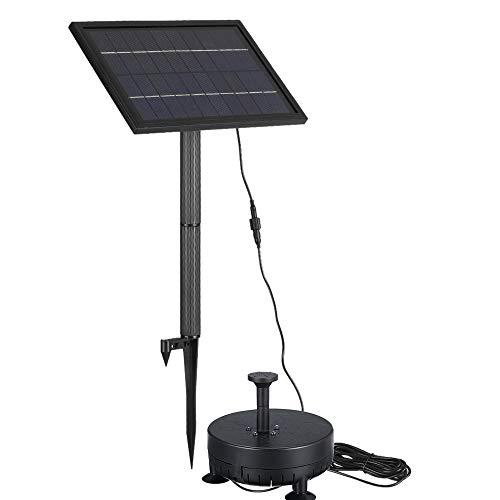 Festnight Brushless waterpomp op zonne-energie, 10 V, 5 W, geïntegreerde geheugenbatterij, dompelpomp, fontein, tuinvijver, 200 liter, hoogte lift 150 cm