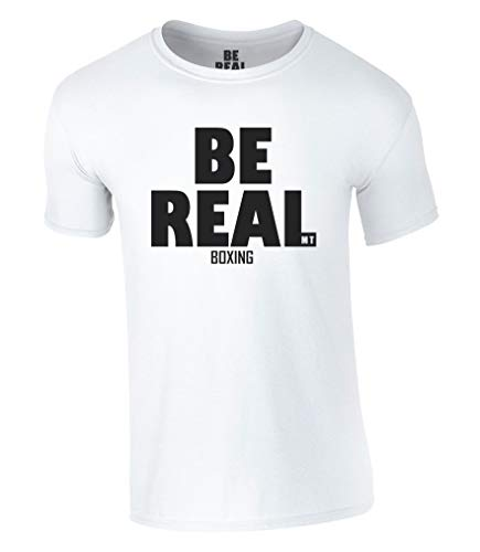 Be Real T-Shirt Iron Mike Tyson Boxing Champion (S, Weiß)
