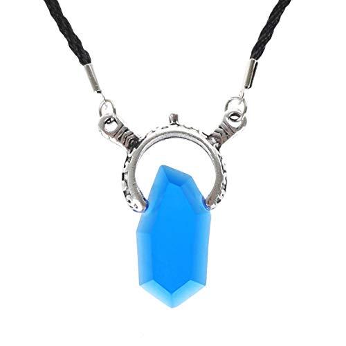 Devil May Cry Halskette mit Kunststoff Kristall von Vergil | Farbe: Blau