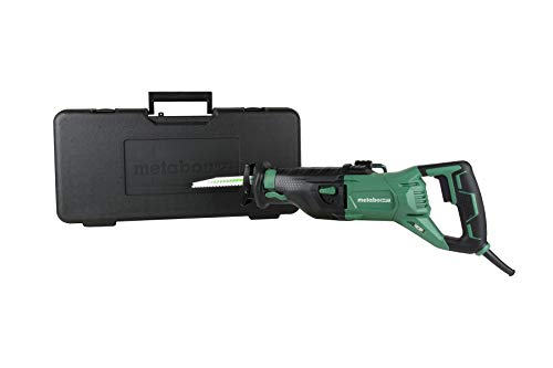 Metabo HPT Reciprocating Saw | Corded | 11-Amp | Variable Speed | Orbital Function Switch | Bevel Gear Drive System | Adjustable Pivot Foot | CR13VST