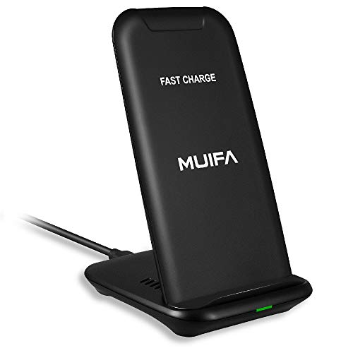 MUIFA Wireless Charger, Qi-Certified 10W Max Fast Charge Compatible iPhone 11/11 Pro/11 Pro Max/XS MAX/XR/XS/8Plus, Galaxy Note 10/Note 9/S10/S10...