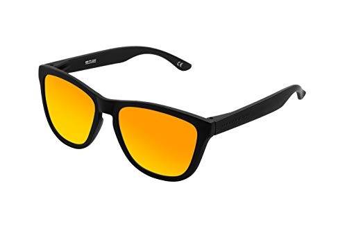 Hawkers Carbon Black Daylight One TR18 Occhiali da Sole, Nero (Negro/Naranja), 60 Unisex-Adulto