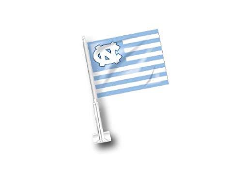 Shrunken Head Brand UNC Car Flag North Carolina Tar Heels JayMac Car Flag American Flag