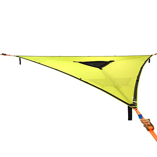 Tentsile Trillium 3-Person Tree Hammock - Patented 3 Point Design, Heavy Duty Ratchets and Straps (Green Fabric)