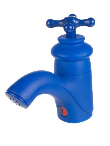 Wasserhahn FM Bad Badezimmer Dusche Radio Spritzwasserfest mit Saugnäpfen blau