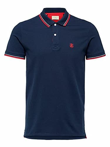 SELECTED HOMME Male Poloshirt Regular fit - MNavy Blazer