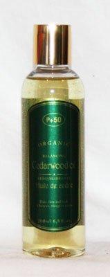 Bois de Cèdre Atlas Bio Huile acné Peau pellicules Cheveux à l'huile Huile pour le corps Peaux Huile Cheveux Oil- par P + 50 – sans parfum