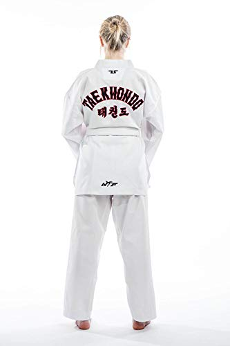Tusah 'Traje de Taekwondo Starter–TKD Dobok–Parte Superior con inscripción Taekwondo–Deportes de Lucha Traje por el World Vendaje Taekwondo Aprobado, 100