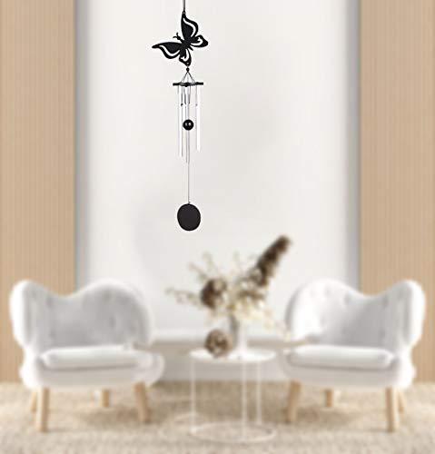 Elinala Windspiele im Freien, Windspiele für Den Garten, Kleine Windspiele mit Metallrohren und Lebendigen Tiermustern für Innen- und Außenornamente (Schmetterling)