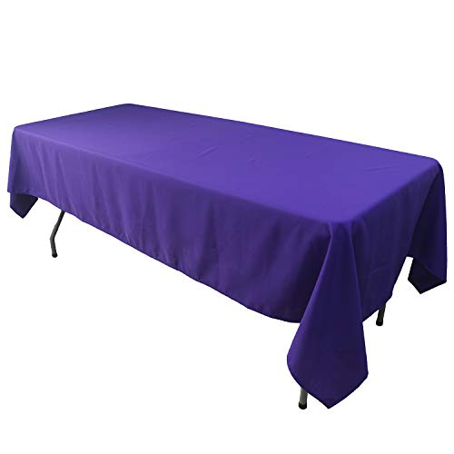 KAITATSU SEN Rectangular Polyester Fabric Tablecloth, Purple, 60x102-inch