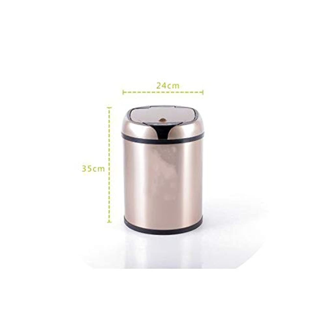 Trash Can Inductive Type Trash Can Automatic Kitchen and Rubbish Bin Stainless Steel Waste Bin,2