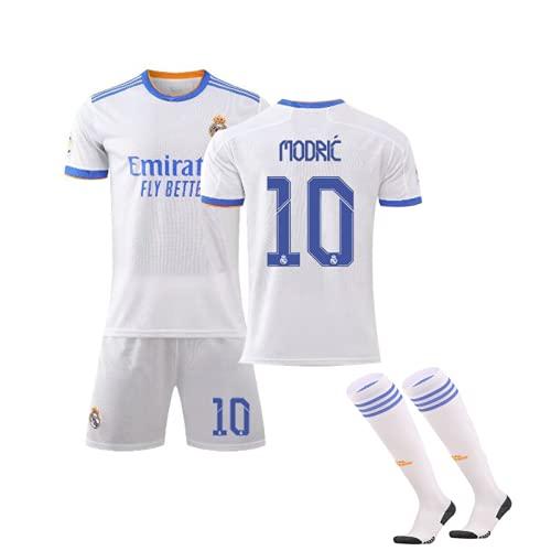 CiYuan Camiseta De FúTbol Del Real Madrid 21-22 New Jersey Home Adult Children No. 10 Modric Football Suit