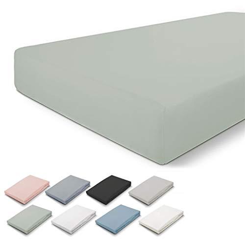 Walra - Lenzuolo con angoli elasticizzati, 180 x 220 cm, 100% cotone, perfetta vestibilità del materasso, morbido al tatto, non si sgualcisce e non si stira