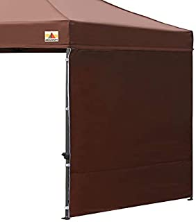 ABCCANOPY 15+Colors 10' Sun Wall for 10'x 10' Straight Leg pop up Canopy Tent, 10' Sidewall kit (1 Panel) with Truss Straps, (Brown)