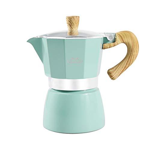 MERMOO YILAN Stovetop Espresso Maker Moka Pot 3 tomas Cafetera para café con sabor fuerte Espresso clásico italiano delicioso café