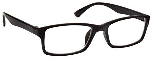 The Reading Glasses Company  Schwarz Kurzsichtig Fernbrille Für Kurzsichtigkeit Designer Stil Herren Frauen M92-1 -1, 00 / Schwarz