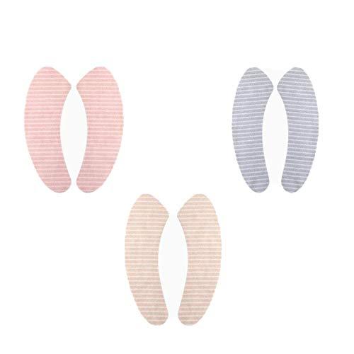 Toiletbril, 3 paar, badmat, rond, badaccessoires, wasbaar, universeel, toiletbrilhoes, velours, wc-stickers voor thuis