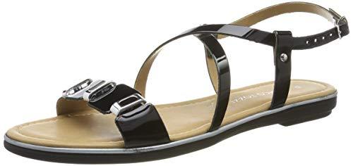 Marco Tozzi Premio 2 2 28140 22, Sandali con Cinturino alla Caviglia Donna, Nero (Black Patent 018), 37 EU