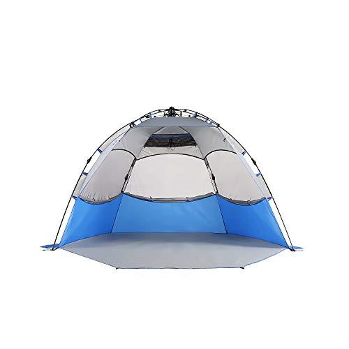 Mobihome Beach Tent Sun Shelter Pop Up, Sand & Surf Beach...