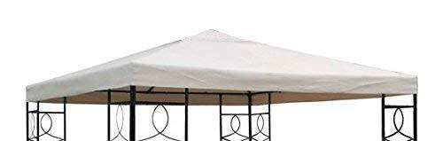 Spetebo Pavillon Ersatzdach mit PVC Beschichtung (wasserdicht) - 3x3 Meter - 270 gr/m² Polyester (Beige)
