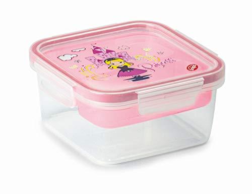 Snips Lunch Box para niños, decoración de princesa, 0,80 l, cuadrada, para niños, 0,80 l, fabricado en Italia