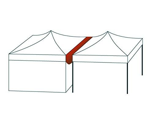 TOOLPORT 4,5 m Lange Verbindungsrinne Regenrinne Verbindung für Faltpavillons Pavillon Marktstand Faltzelt Premium und Professional von PROFIZELT24 aus wasserdichtem ca. 620 g/m² PVC-Material in weiß